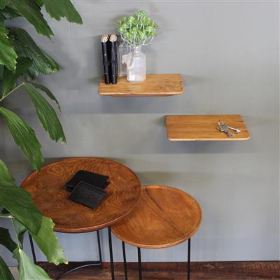 mensola 25 cm legno
