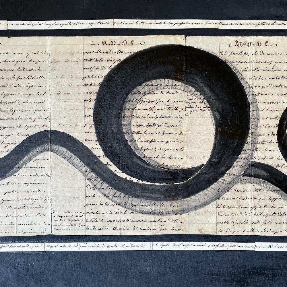 serpente su manoscritto