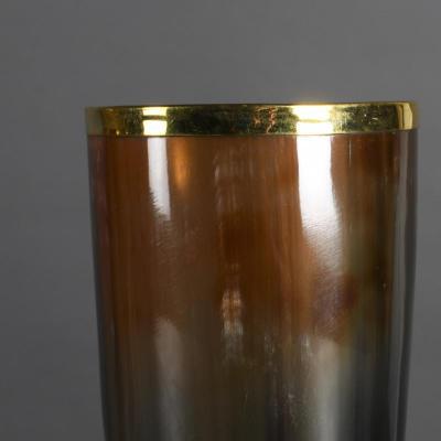 bicchieri in corno e oro