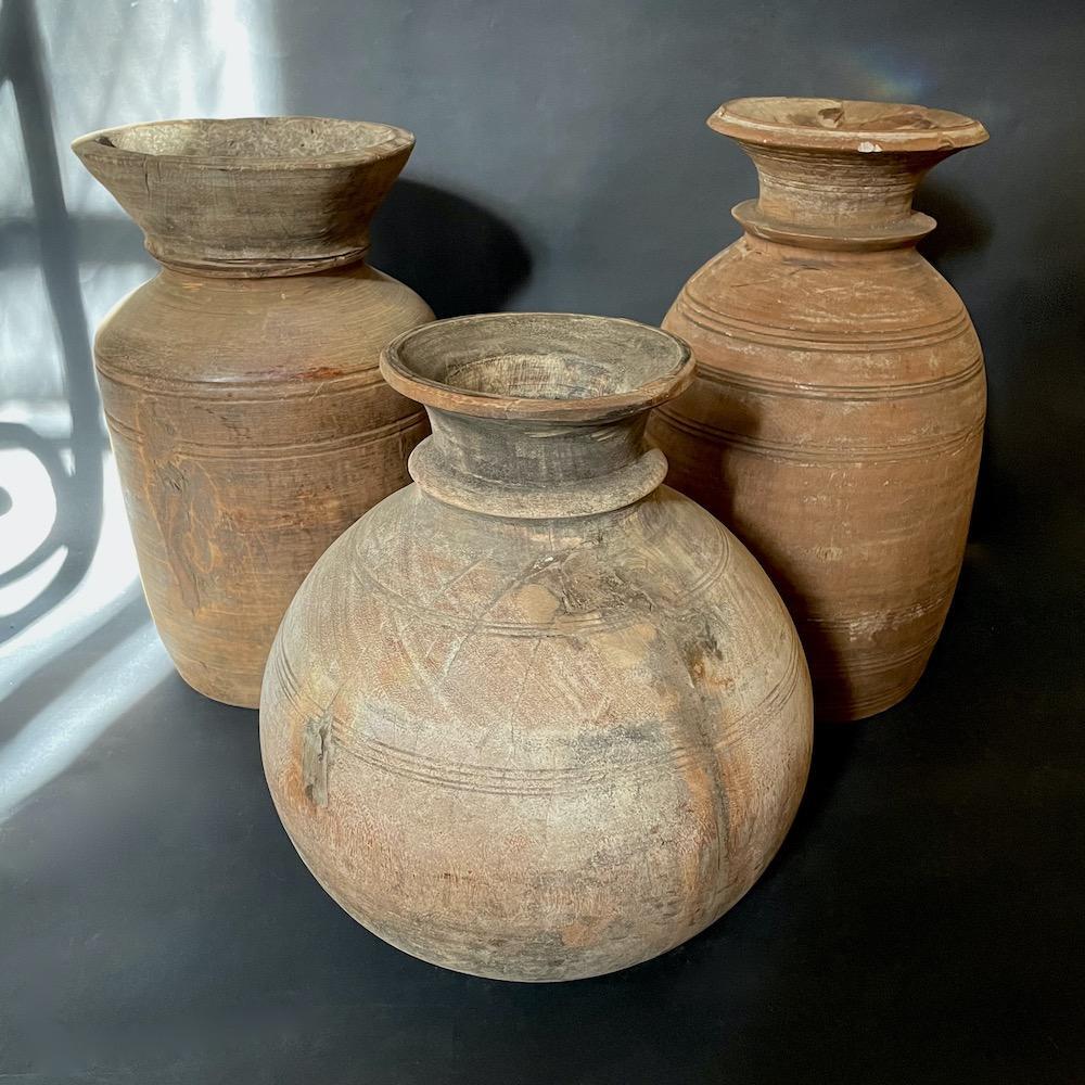 vasi vintage legno Nepal XL
