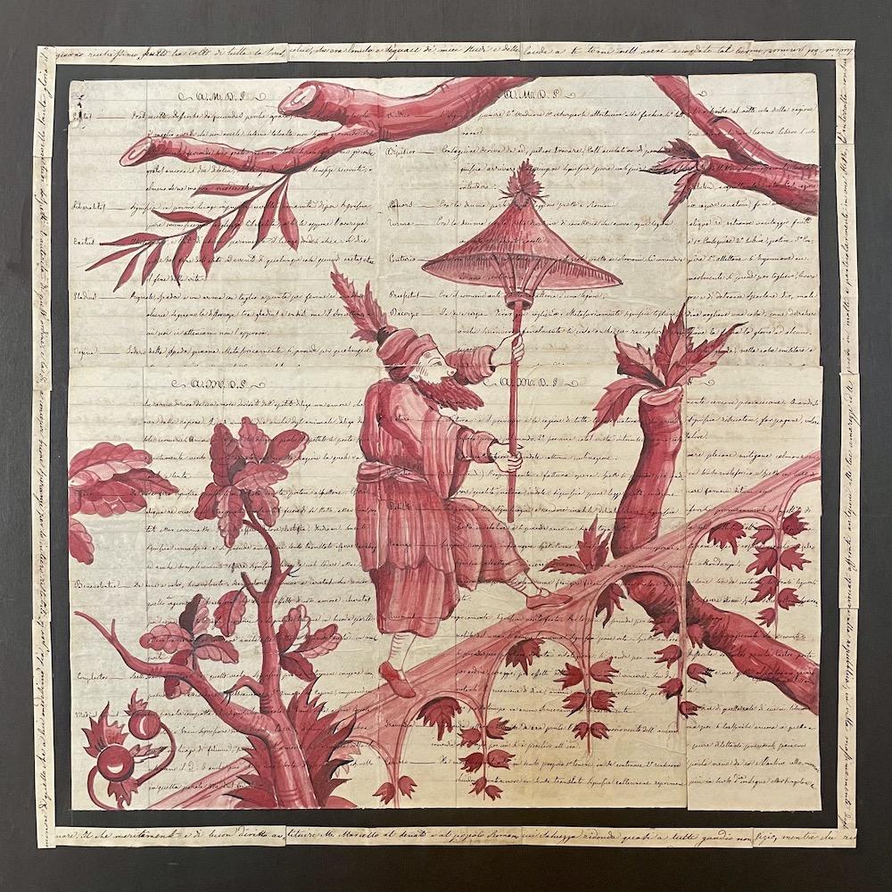 china rossa su manoscritto B