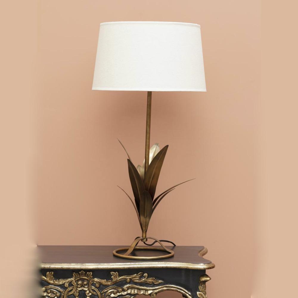 lampada Abaca metallo dorato