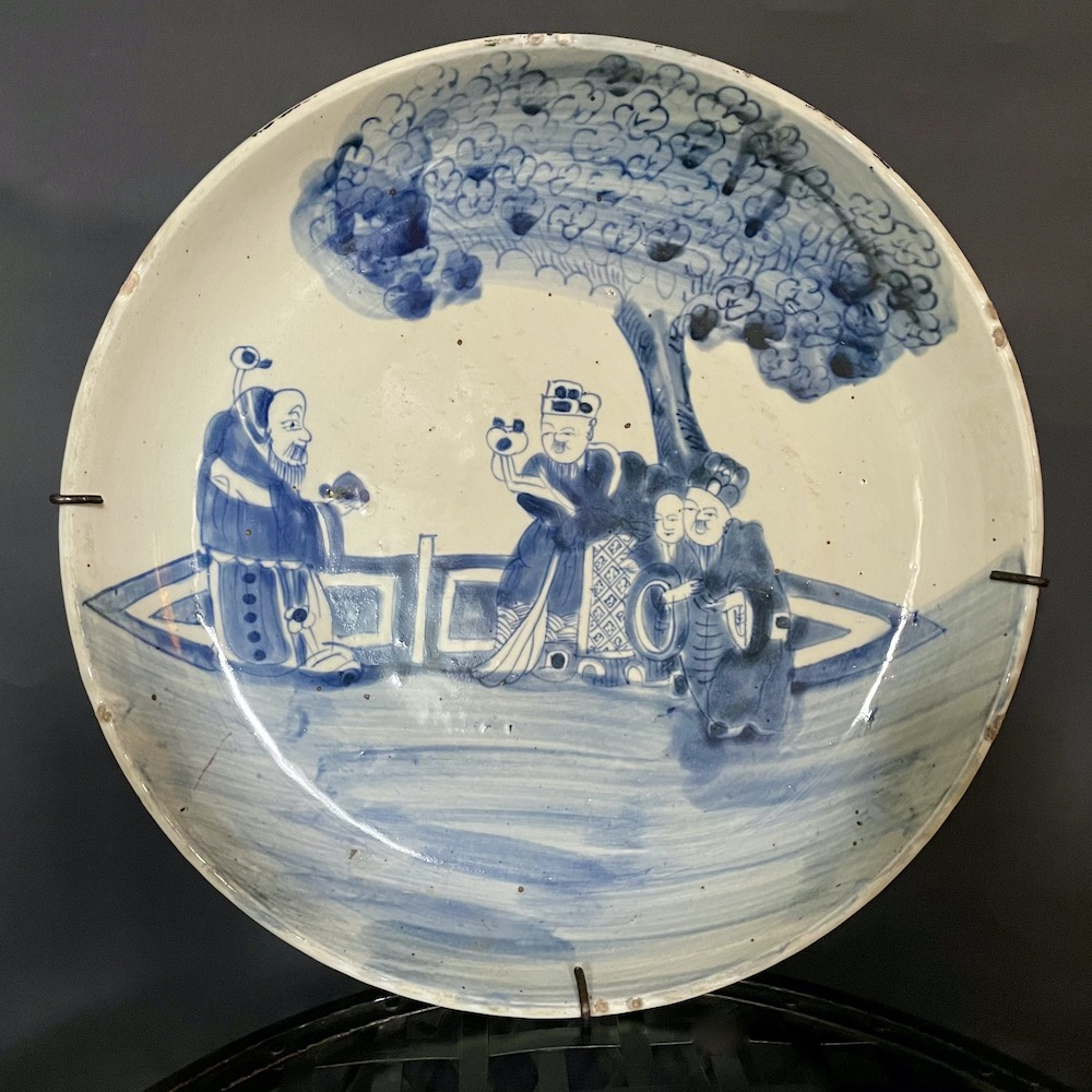 piatto cinese disegni blu