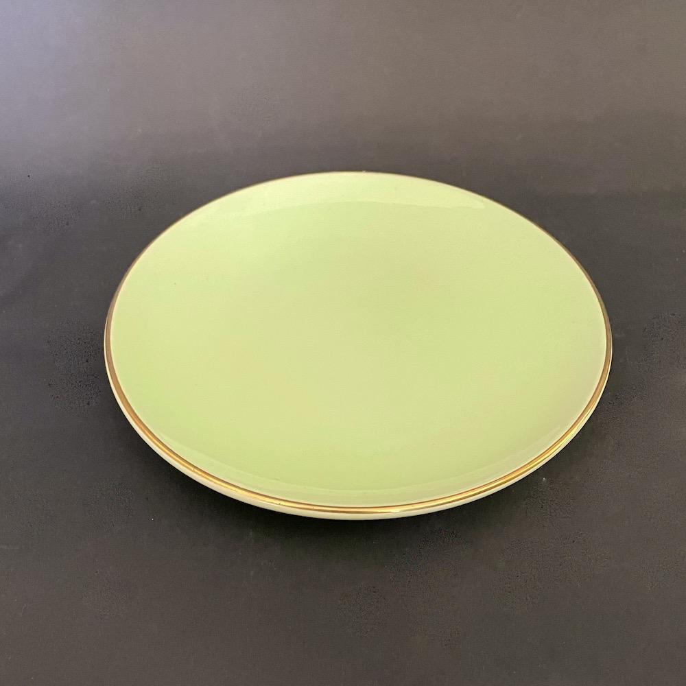 piatto dolce ceramica verde