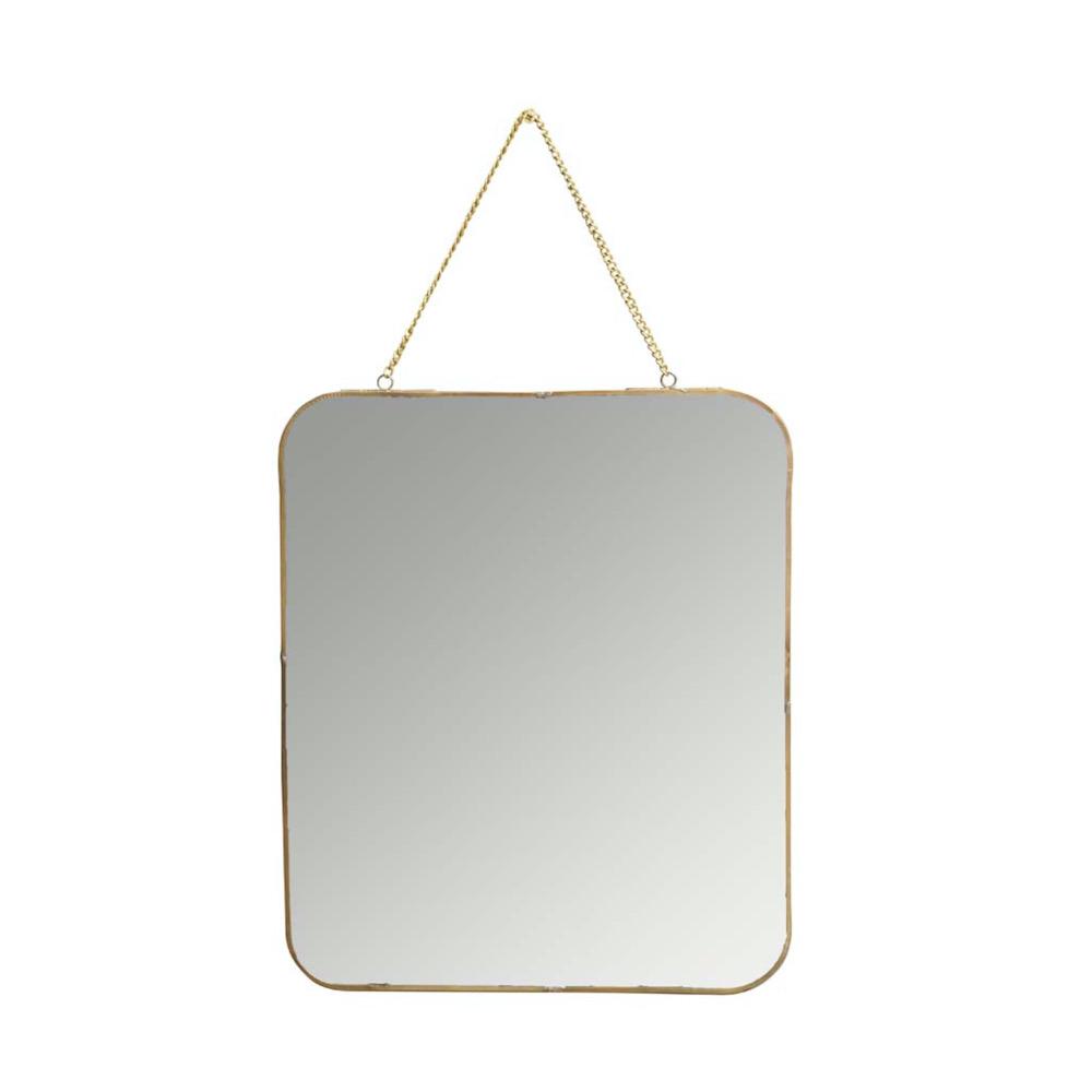specchio bordo oro catenella