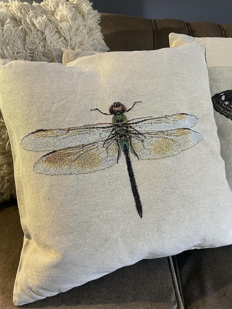 cuscino libellula
