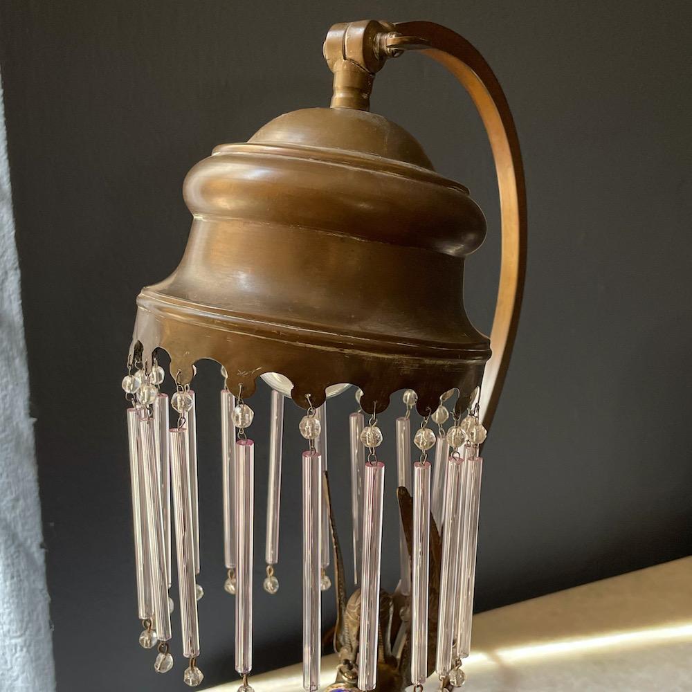 lampada antica ottone