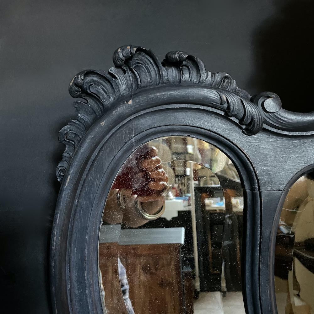 specchio antico ebanizzato