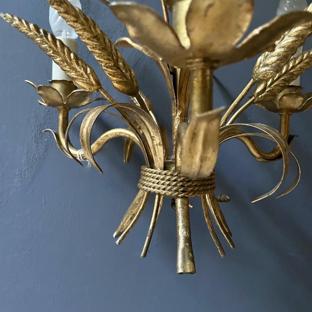 lampadario vintage oro grano