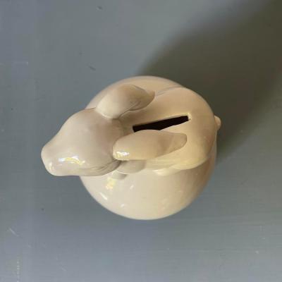 salvadanaio ceramica bianca