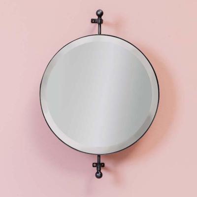 specchio bagno tondo rotante
