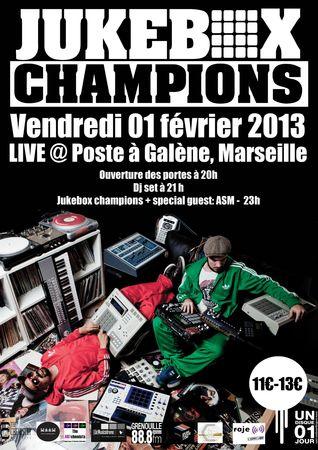 Jukebox Champions Marseille Le Poste à Galène