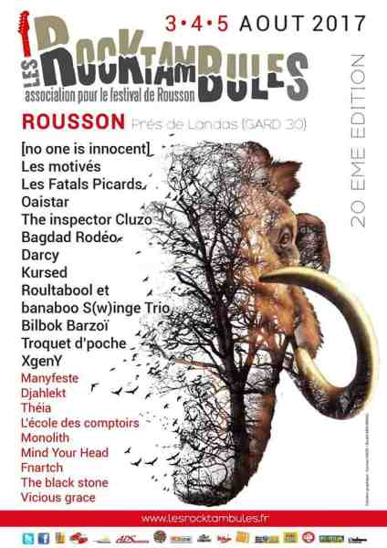 Groupes festival Rocktambules rousson 2017