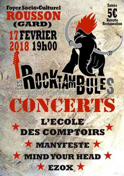 Festival rocktambules 2018 rousson
