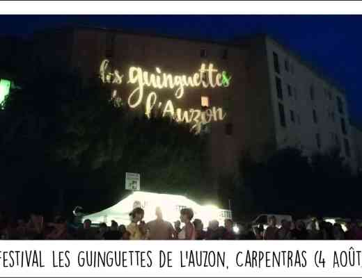 Carte postale festival les guinguettes de l'auzon 2018 carpentras