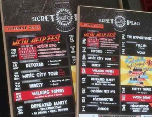 concerts rock punk métal montpellier septembre octobre 2018
