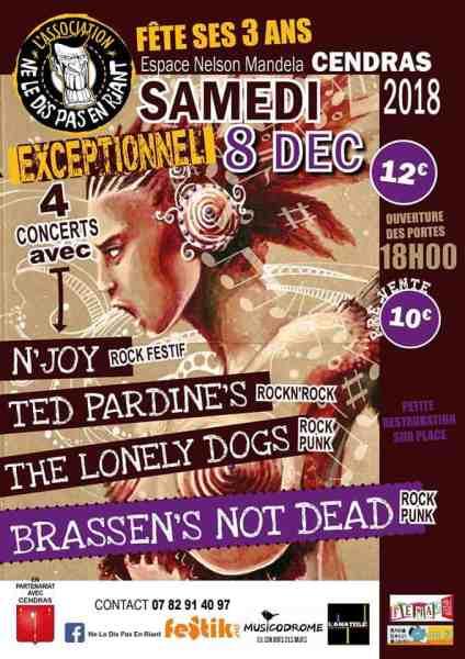 Concert Ne Le Dis Pas En Riant cendras 8 décembre 2018