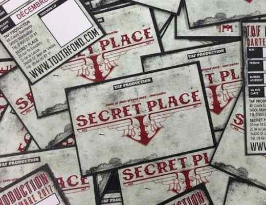 Agenda concerts secret place novembre décembre 2018