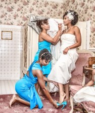 Black Bride and Black Bridesmaides