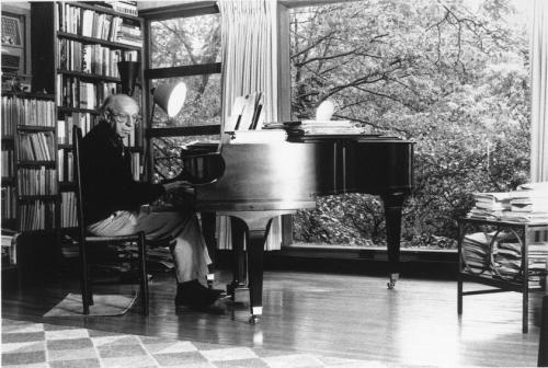 """AaronCopland"" by Gov - http://memory.loc.gov/music/copland/phot/phot0098v.jpg. Licensed under Public domain via Wikimedia Commons - http://commons.wikimedia.org/wiki/File:AaronCopland.JPG#mediaviewer/File:AaronCopland.JPG"