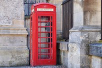 Traditional telephone box, Oxford