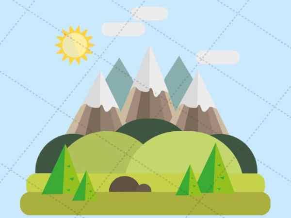 Mountains - Vector Image