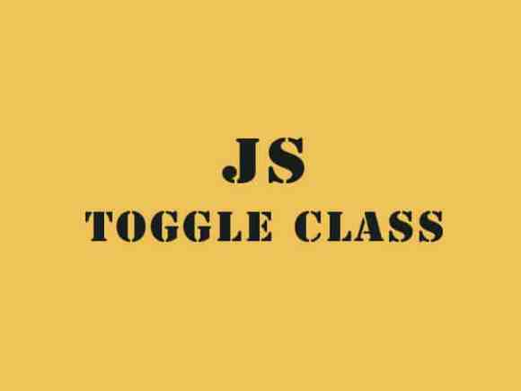 JavaScript Toggle Class