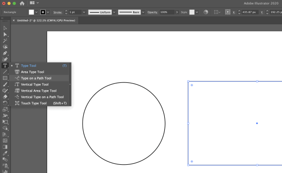 How to wrap your text around a circle/ square in Illustrator?