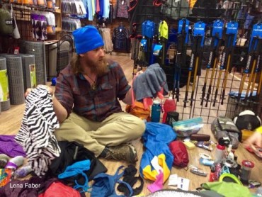 hiking gear resupplying