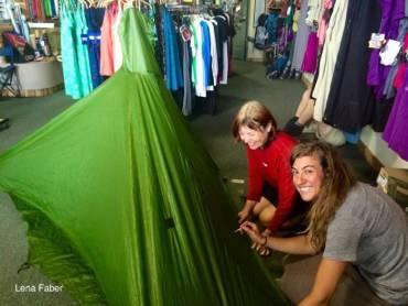 Sealing my tent