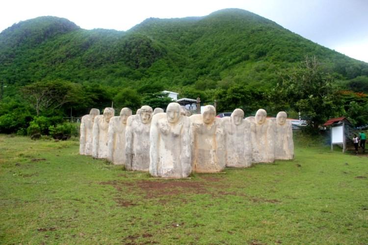 Anse Cafard Slave Denkmal