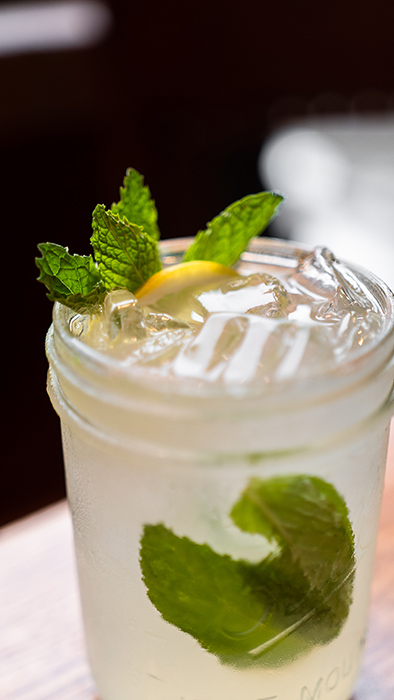 close up of a unicorn cocktail