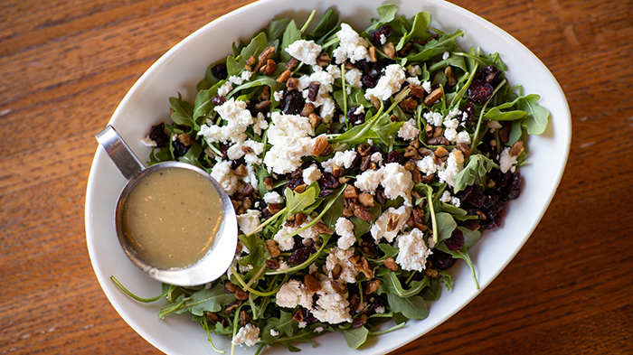 close up of a winter salad