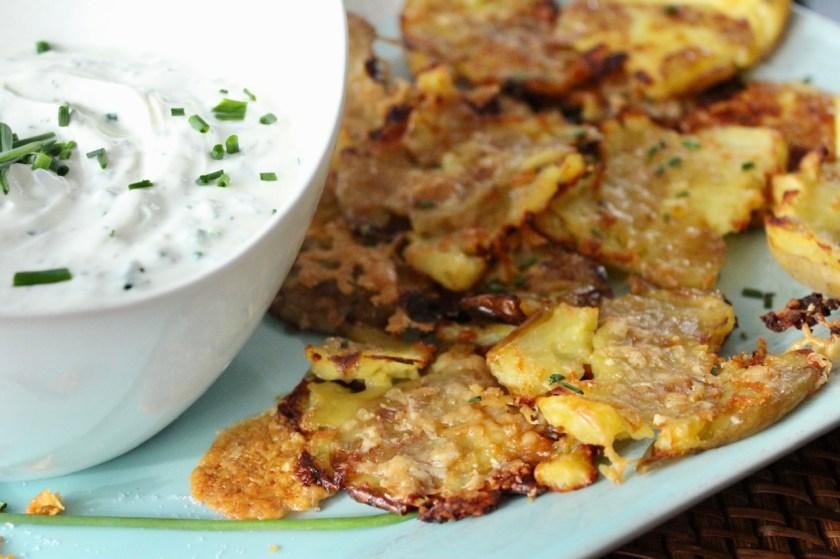 Knusprige Quetsch-Kartoffeln
