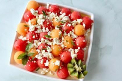Melonensalat mit Feta