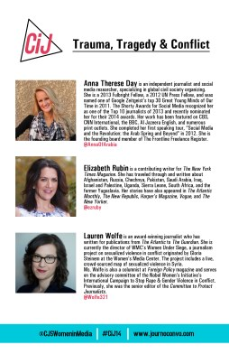 Panel 3 bios in conference program