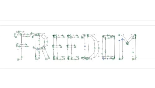 freedom vector lettering
