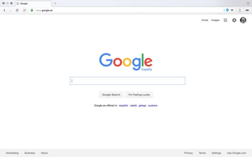 google blank page