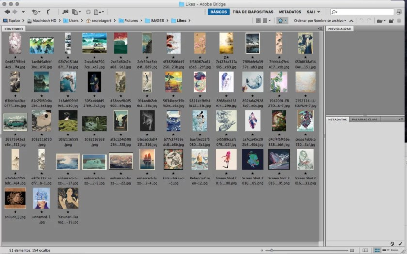 How I organize the images that Ilike and can inspire my work