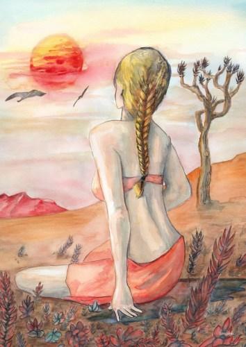 hot winter lena singla watercolor art