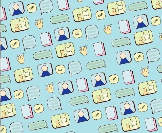 patrón de iconos de mensajería