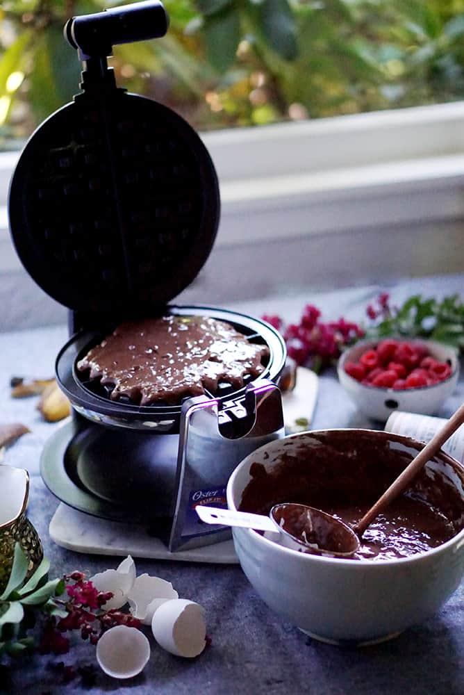 chocolate waffles_lenaskitchenblog_process