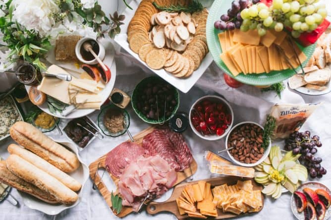 charcuterie spread from Tillamook and Kroger
