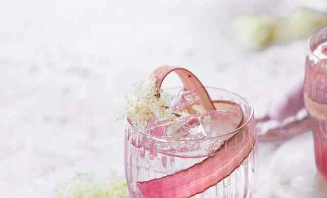 SUMMER COCKTAIL, PINK RHUBARB + ELDERFLOWER COCKTAILS