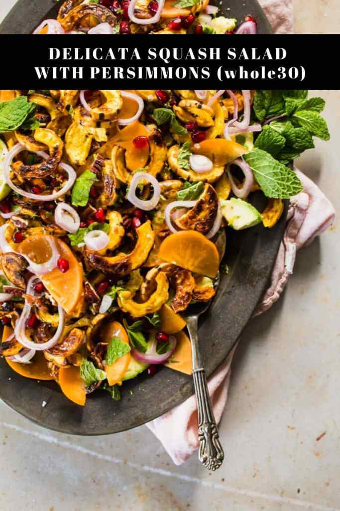 Delicata squash salad on platter