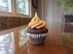 Chocolate caramel cupcake