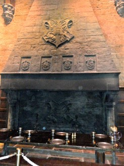 Kamin in der großen Halle