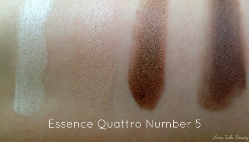 Essence Quattro number 5 swatches.05