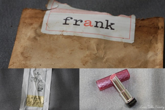 frank body scrub, revlon lip butter sugar plum, schwarzkopf ultimie shampoo