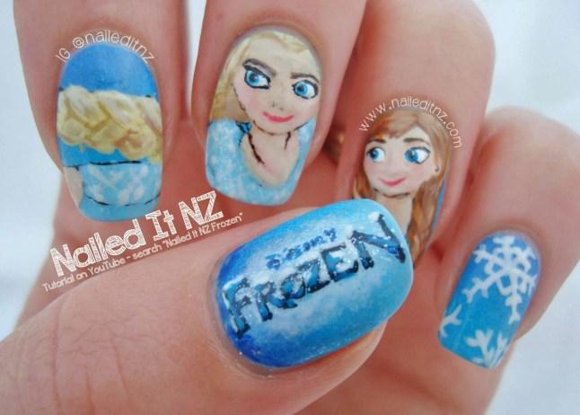 nailed it nz frozen nail art